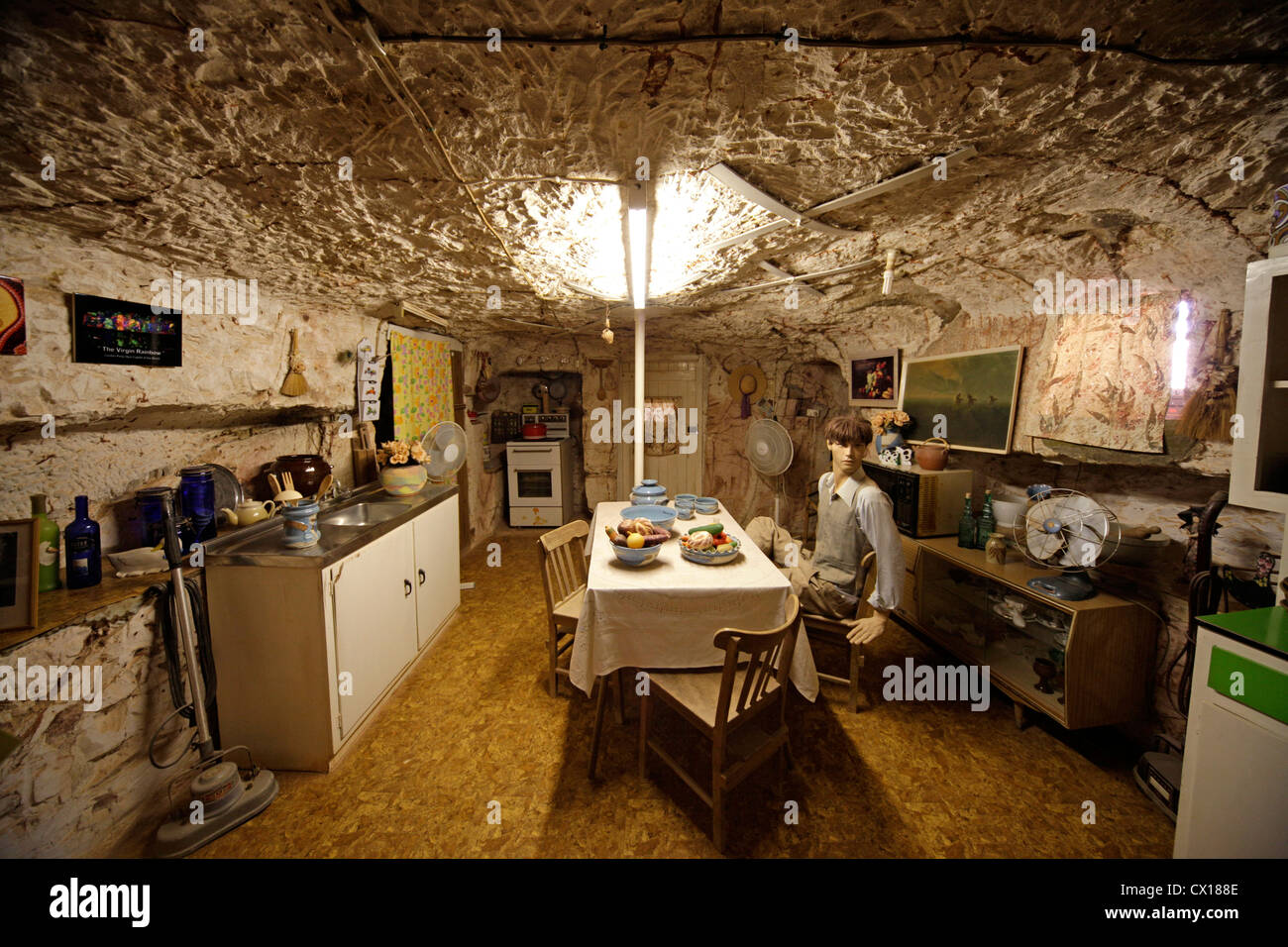 Museum Old timers Mine in Coober Pedy, South Australia, Australia - Stock Image