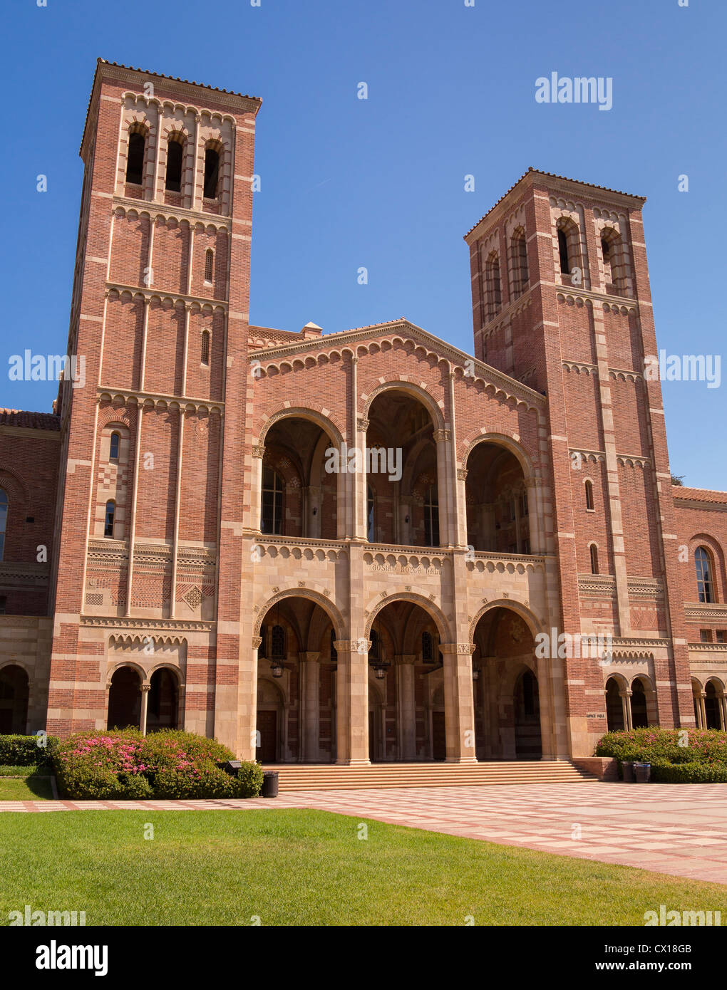 LOS ANGELES, CALIFORNIA, USA - Royce Hall on UCLA campus. - Stock Image