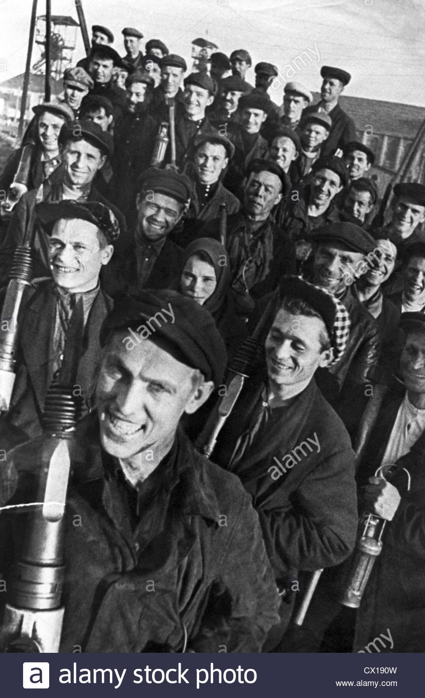 The beginning of the Stakhanov movement, or the Grenadiers of communist labor 98