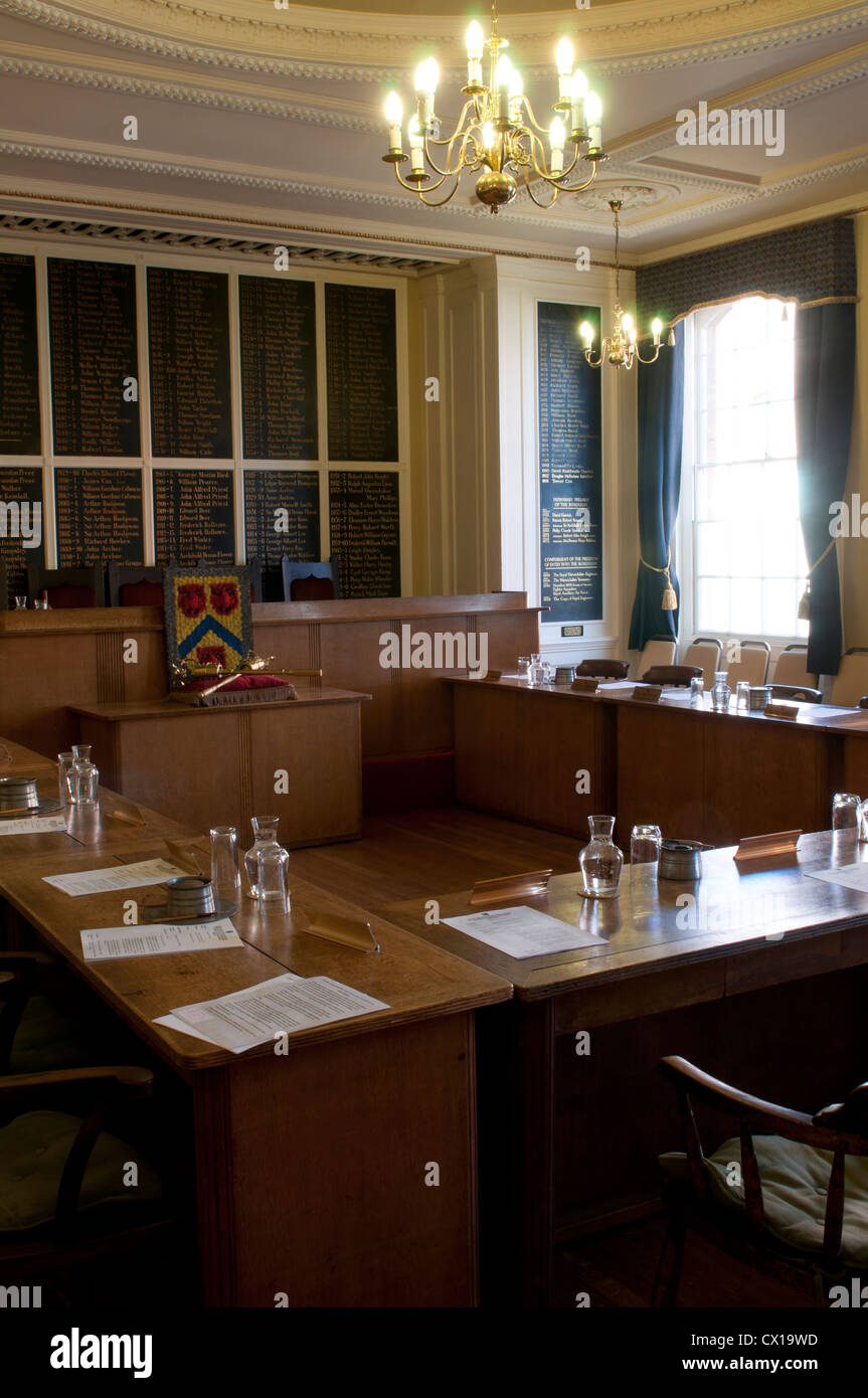 The Council Chamber, Town Hall, Stratford-upon-Avon, UK - Stock Image