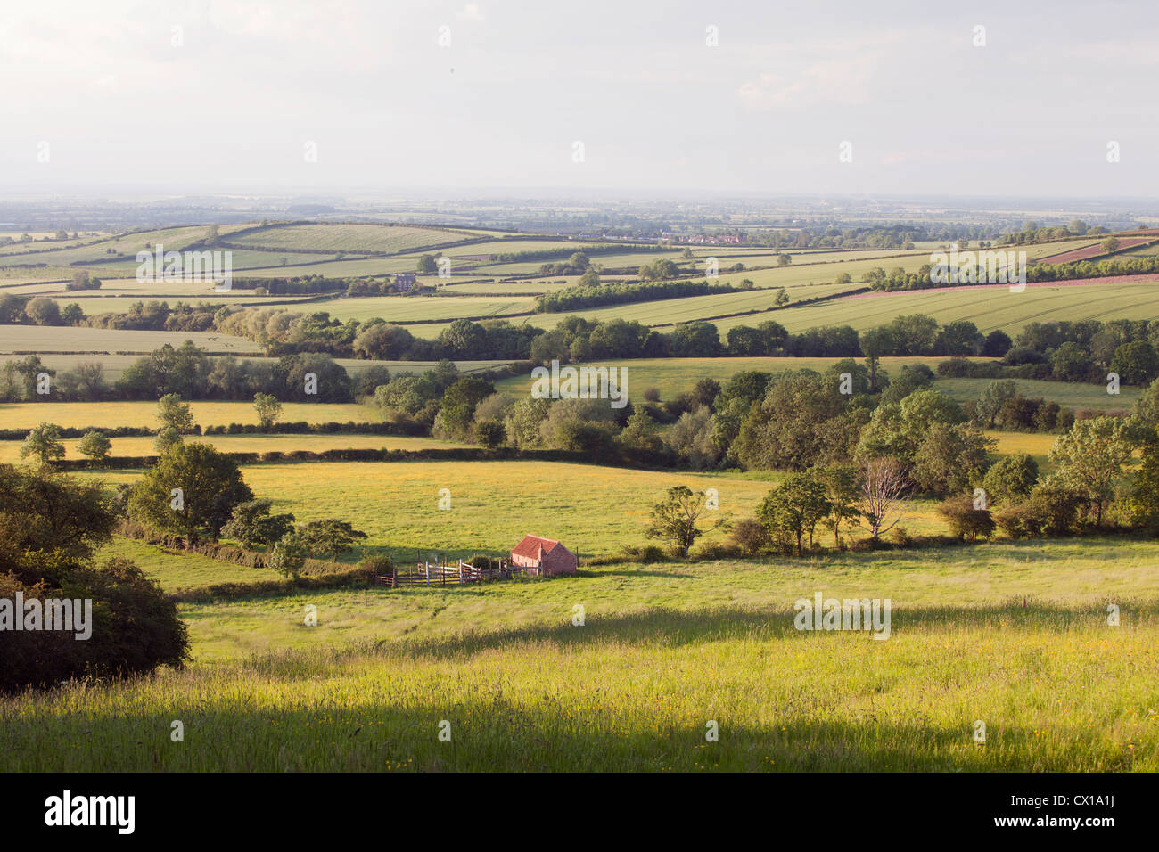 Landscape looking over the Leicestershire and Nottinghamshire border, UK. - Stock Image