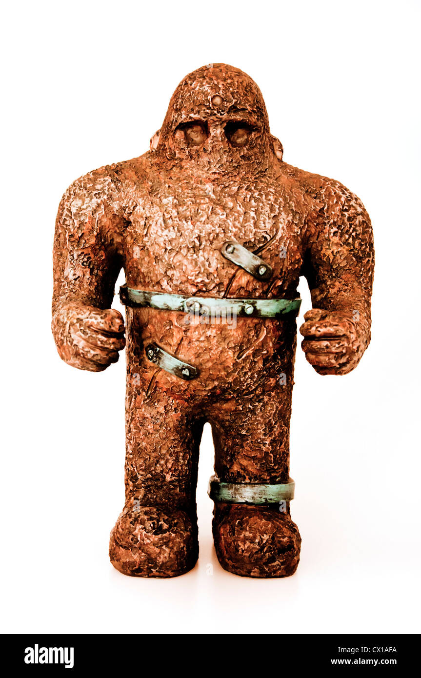 statuette of a Golem Hebrew mythical figure - Stock Image