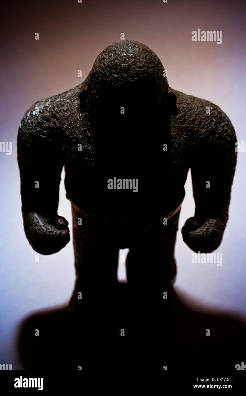 silhouette of a Golem Hebrew mythical figure - Stock Image