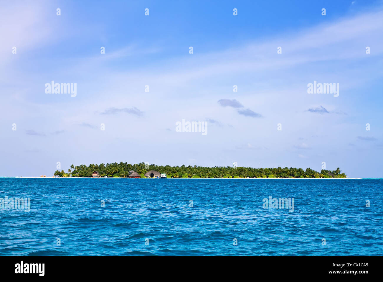 Aerial view of Maldive islands - Stock Image