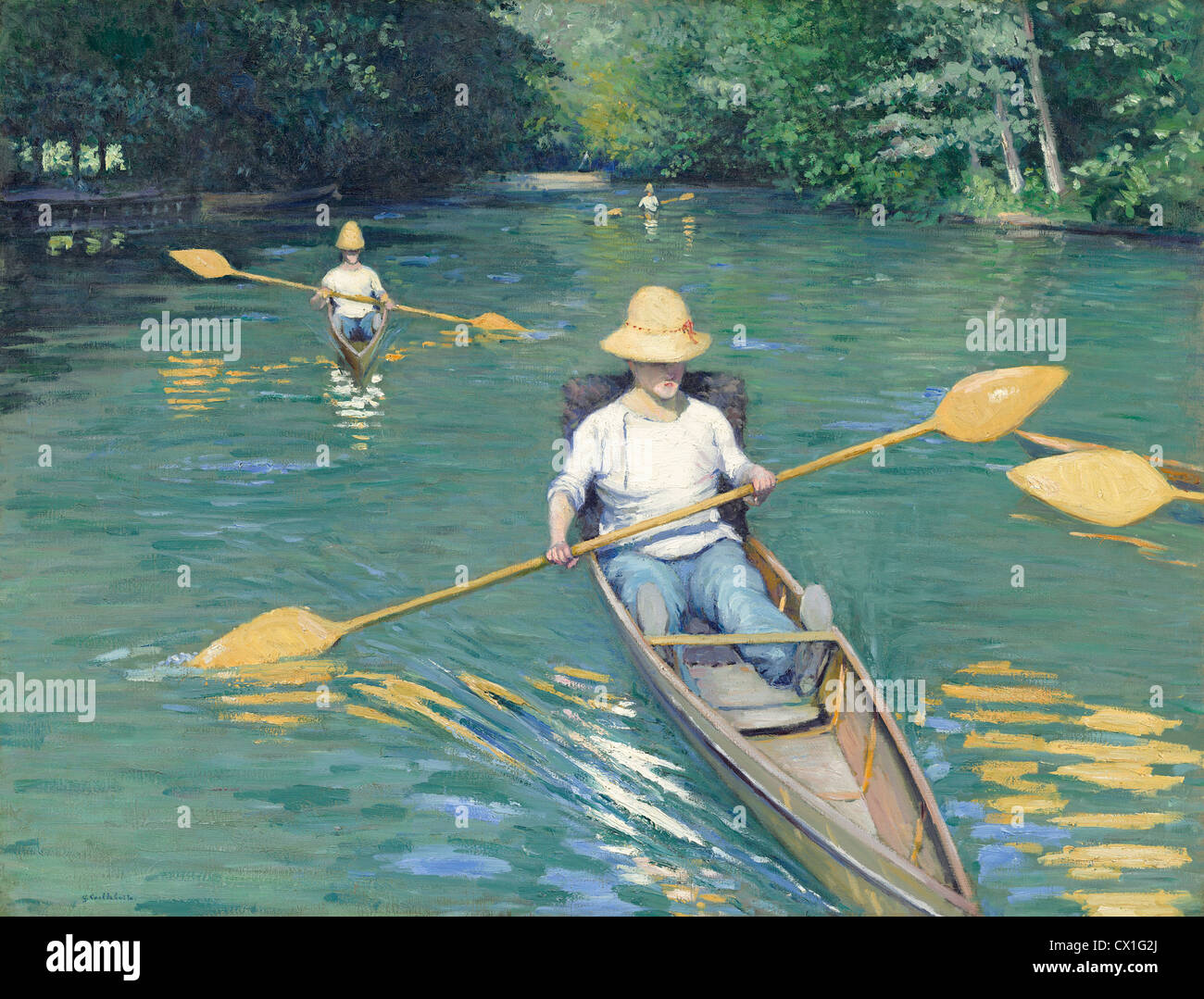 Gustave Caillebotte (French, 1848 - 1894 ), Skiffs, 1877, oil on canvas - Stock Image