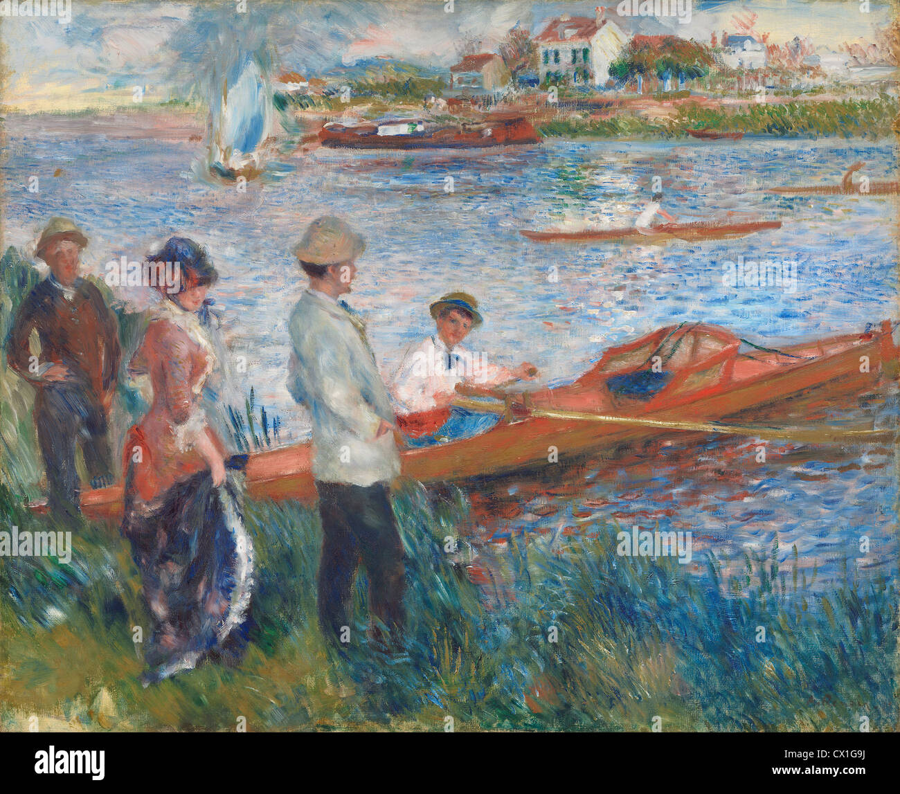 Auguste Renoir (French, 1841 - 1919 ), Oarsmen at Chatou, 1879, oil on canvas - Stock Image
