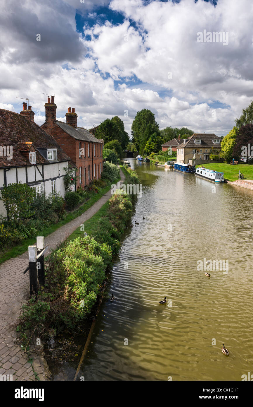 The Kennet and Avon Canal at Hungerford, Berkshire - England - Stock Image