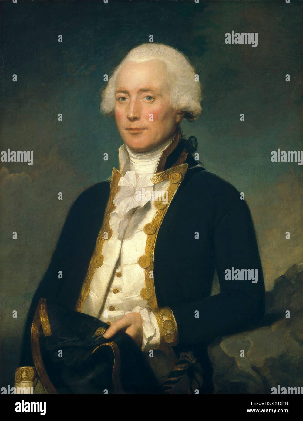 Lemuel Francis Abbott, Captain Robert Calder, British, c. 1755/1761 - 1802, c. 1787/1790, oil on canvas - Stock Image