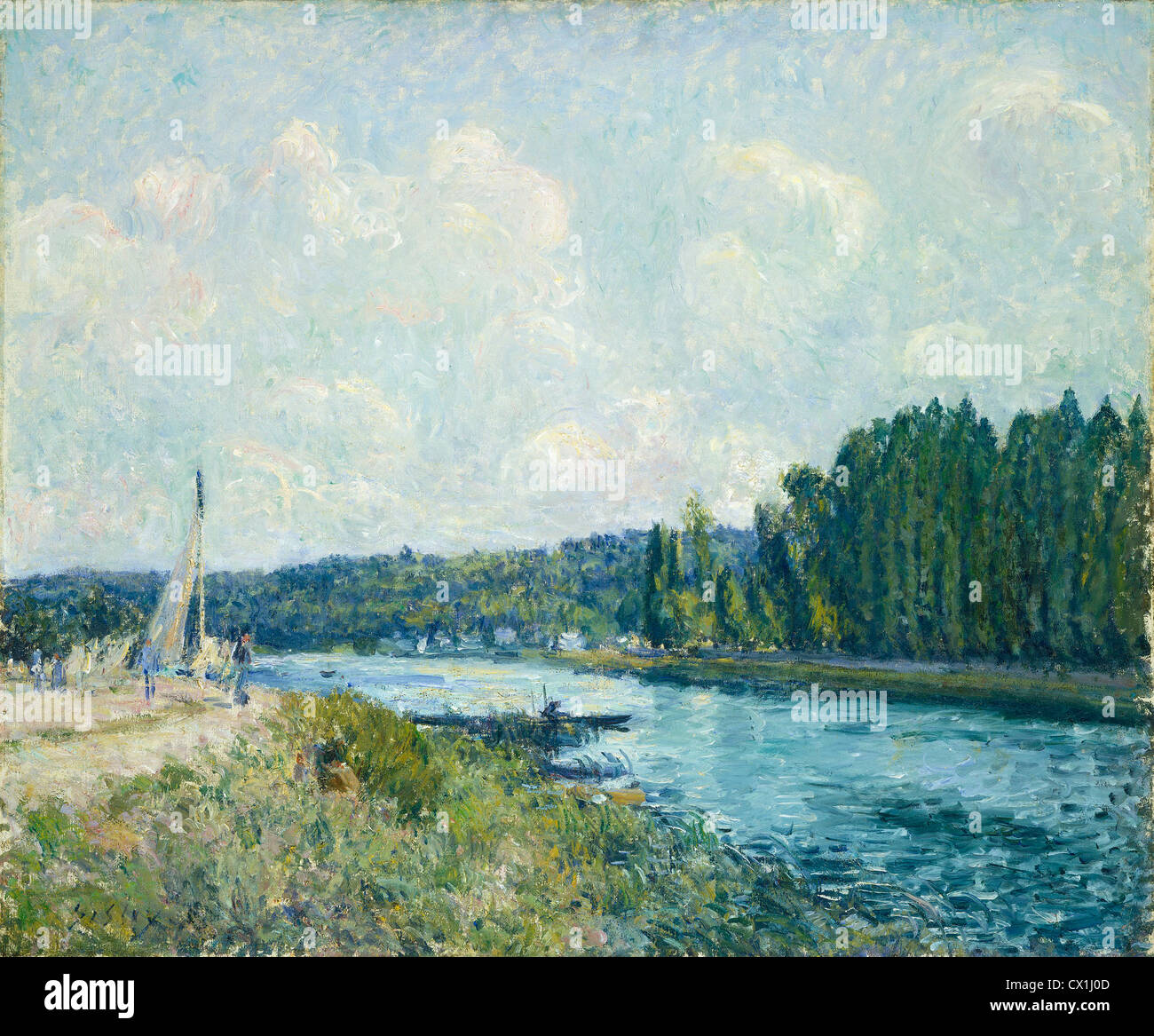 Alfred Sisley, The Banks of the Oise, French, 1839 - 1899, 1877/1878, oil on canvas - Stock Image