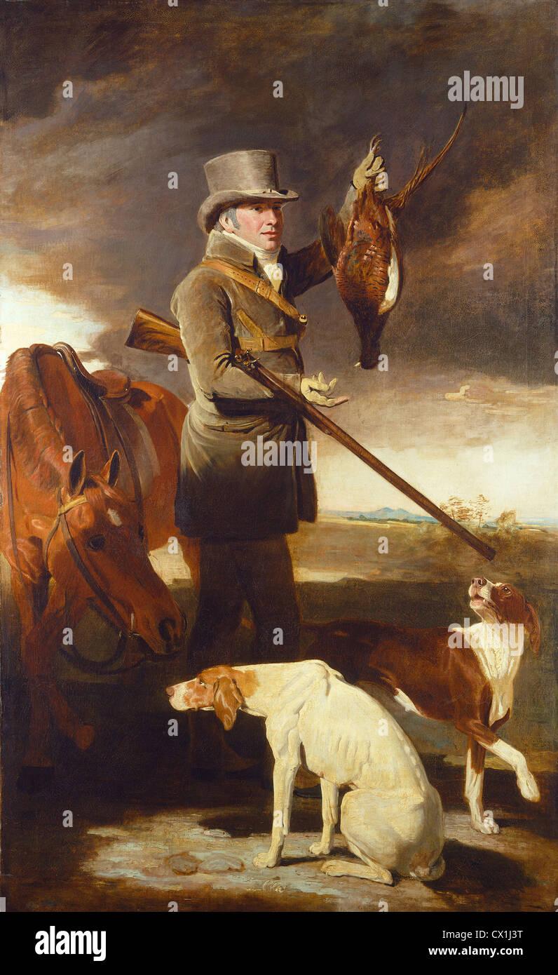 Benjamin Marshall (British, 1768 - 1835 ), J.G. Shaddick, the Celebrated Sportsman, 1806, oil on canvas - Stock Image