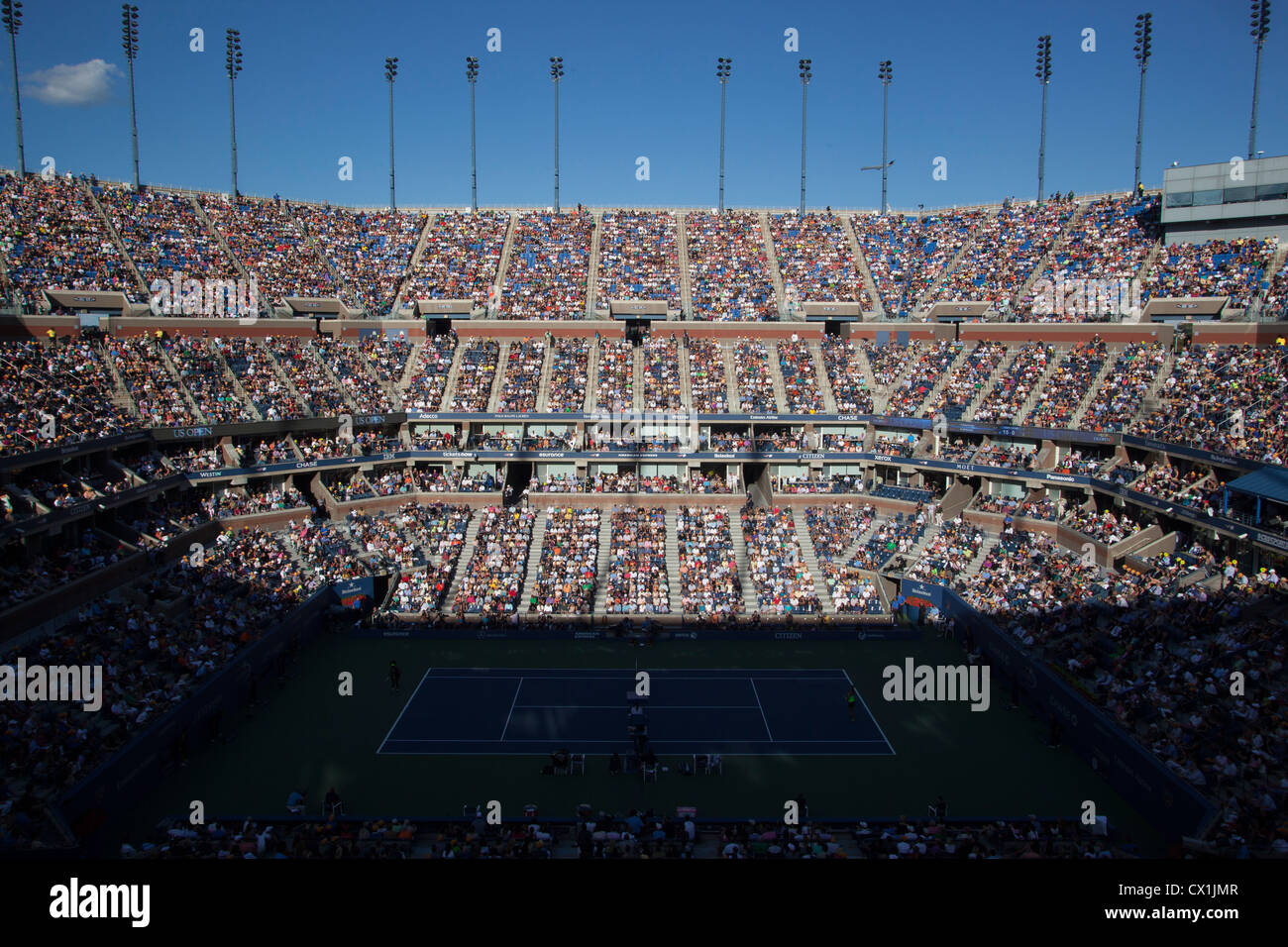 Arthur Ashe Stadium during the Women's Finals at the 2012 US Open Tennis - Stock Image