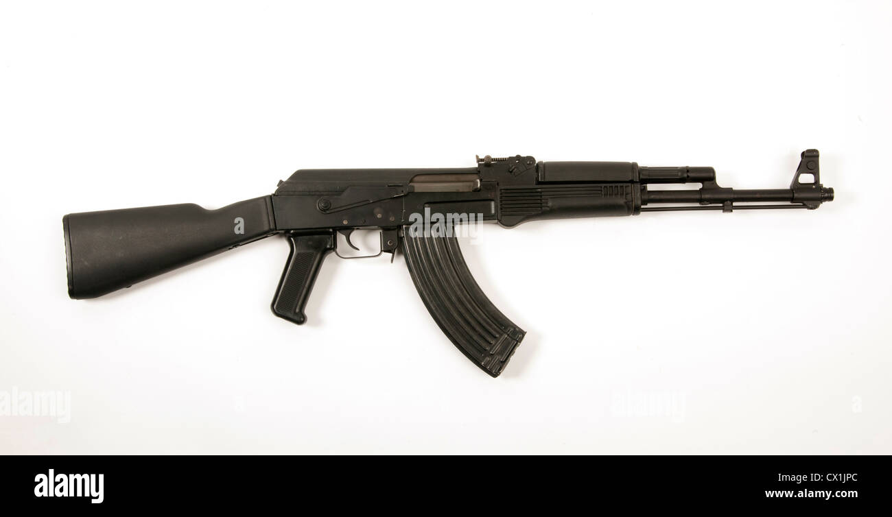 Bulgarian AK47 assault rifle as used by various nations including Iraqi special forces. - Stock Image