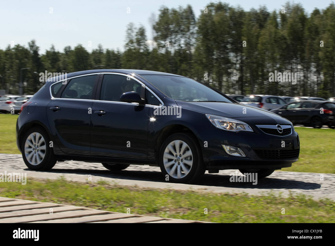 LENINGRAD REGION, RUSSIA. JUNE 29, 2010. This new generation Opel Astra has rolled off the production line at the - Stock Image