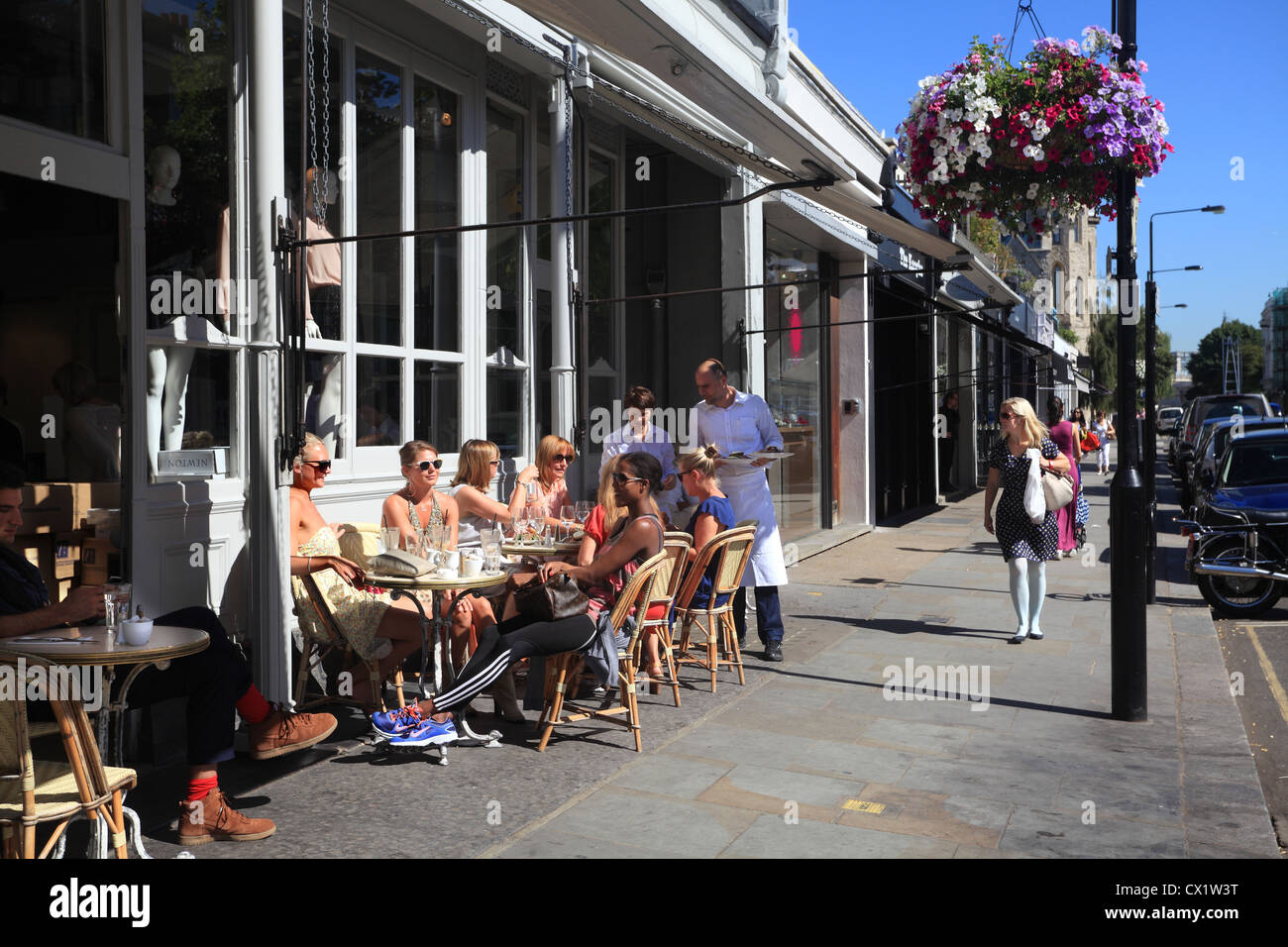 Cafes in Westbourne Grove Notting Hill London W11 - Stock Image