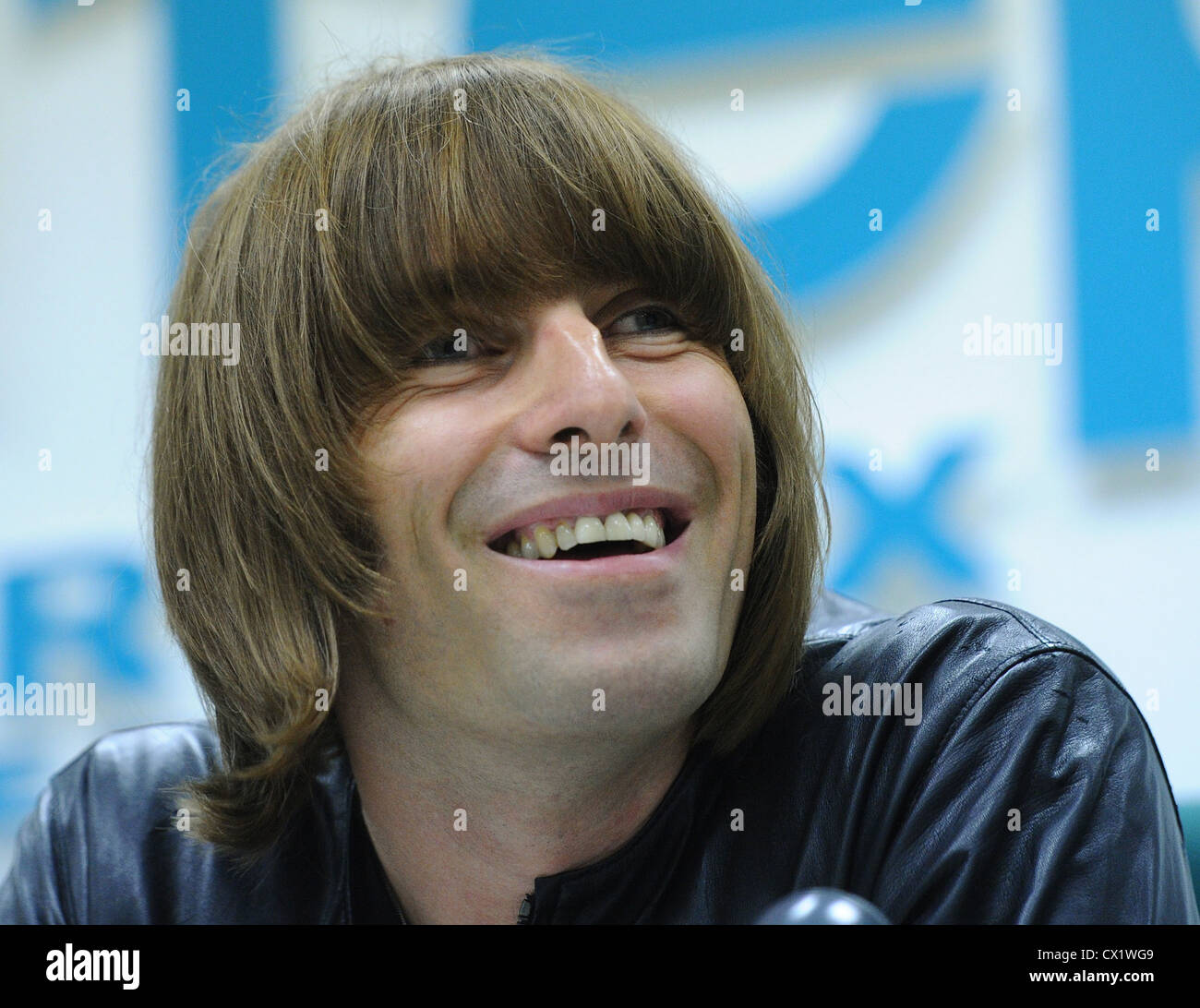 ITAR-TASS: MOSCOW, RUSSIA. JUNE 3, 2011. Beady Eye frontman Liam Gallagher gives a press conference at the office - Stock Image