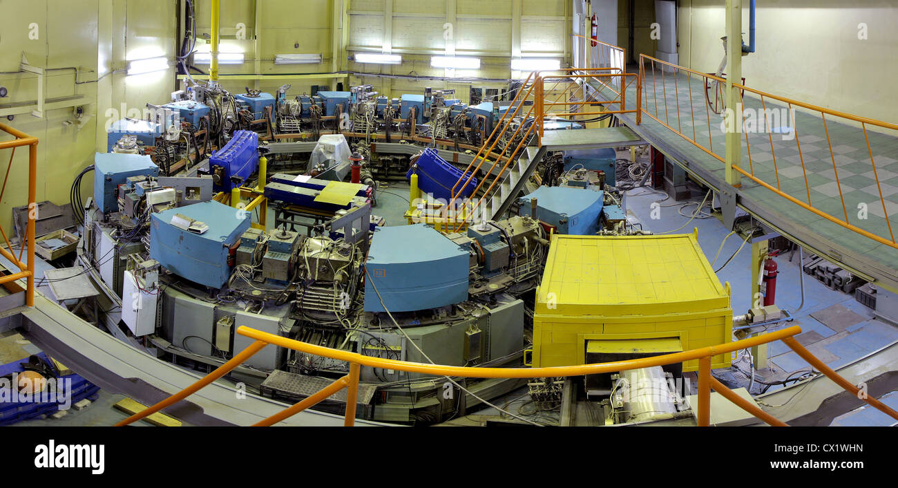 ITAR-TASS: NOVOSIBIRSK, RUSSIA. JUNE 6, 2011. An old electron-positron collider built at the G I. Budker Institute Stock Photo