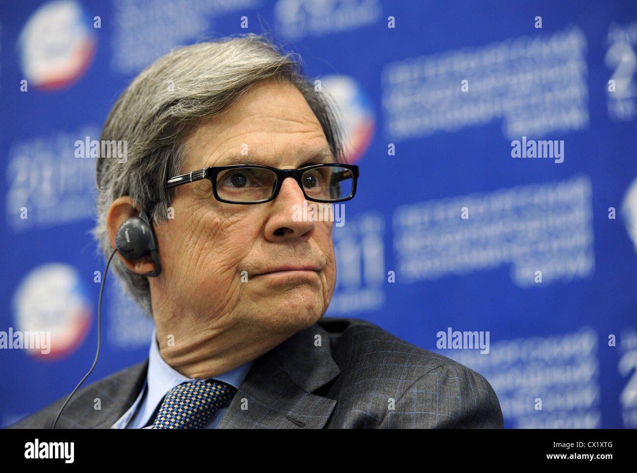 ITAR-TASS: ST. PETERSBURG, RUSSIA. JUNE 17, 2011. Peter T. Grauer, Chairman of Bloomberg L.P., takes part in the - Stock Image