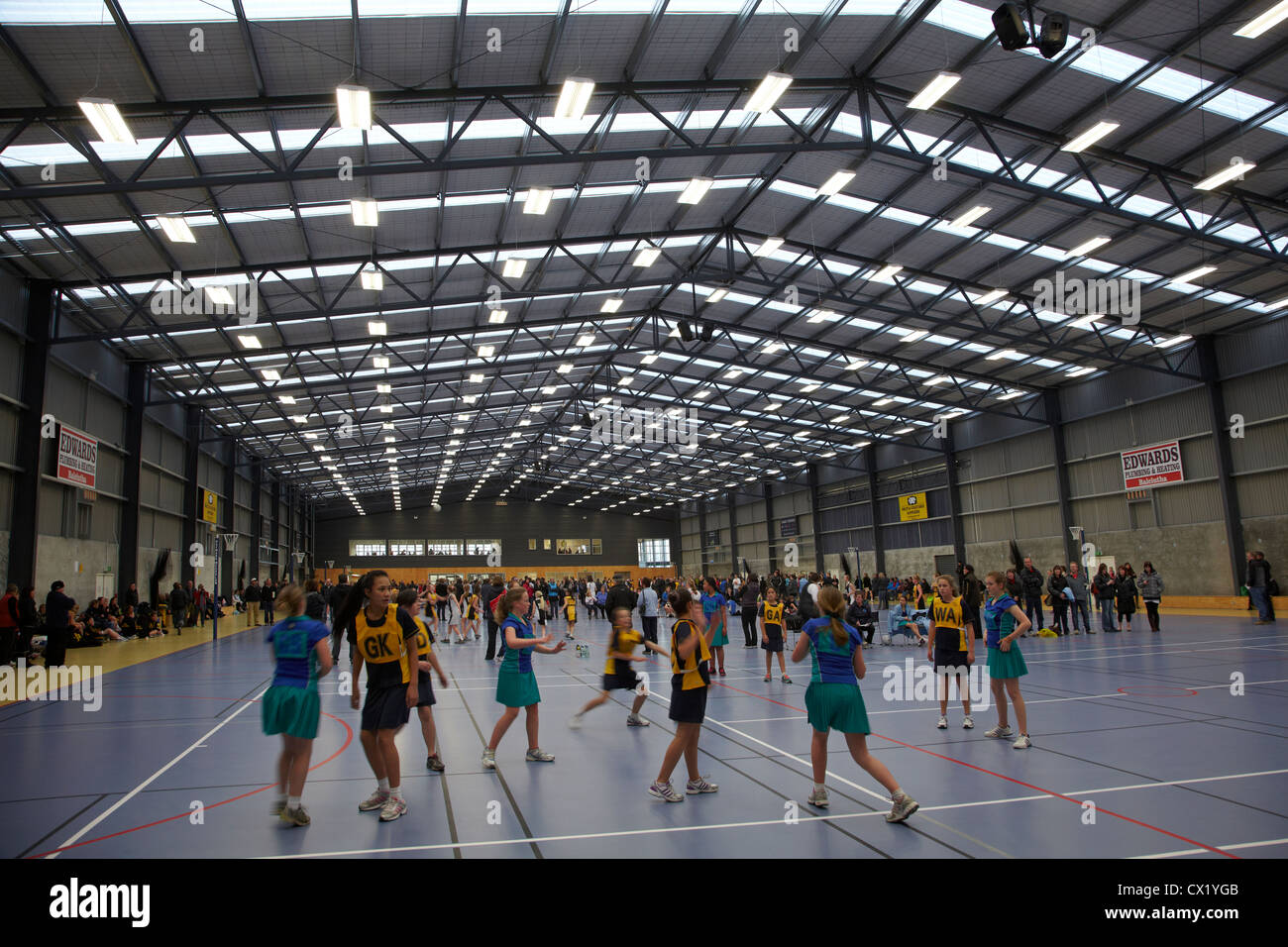 Netball Tournament, South Otago Netball Centre, Balclutha, South Otago, South Island, New Zealand - Stock Image