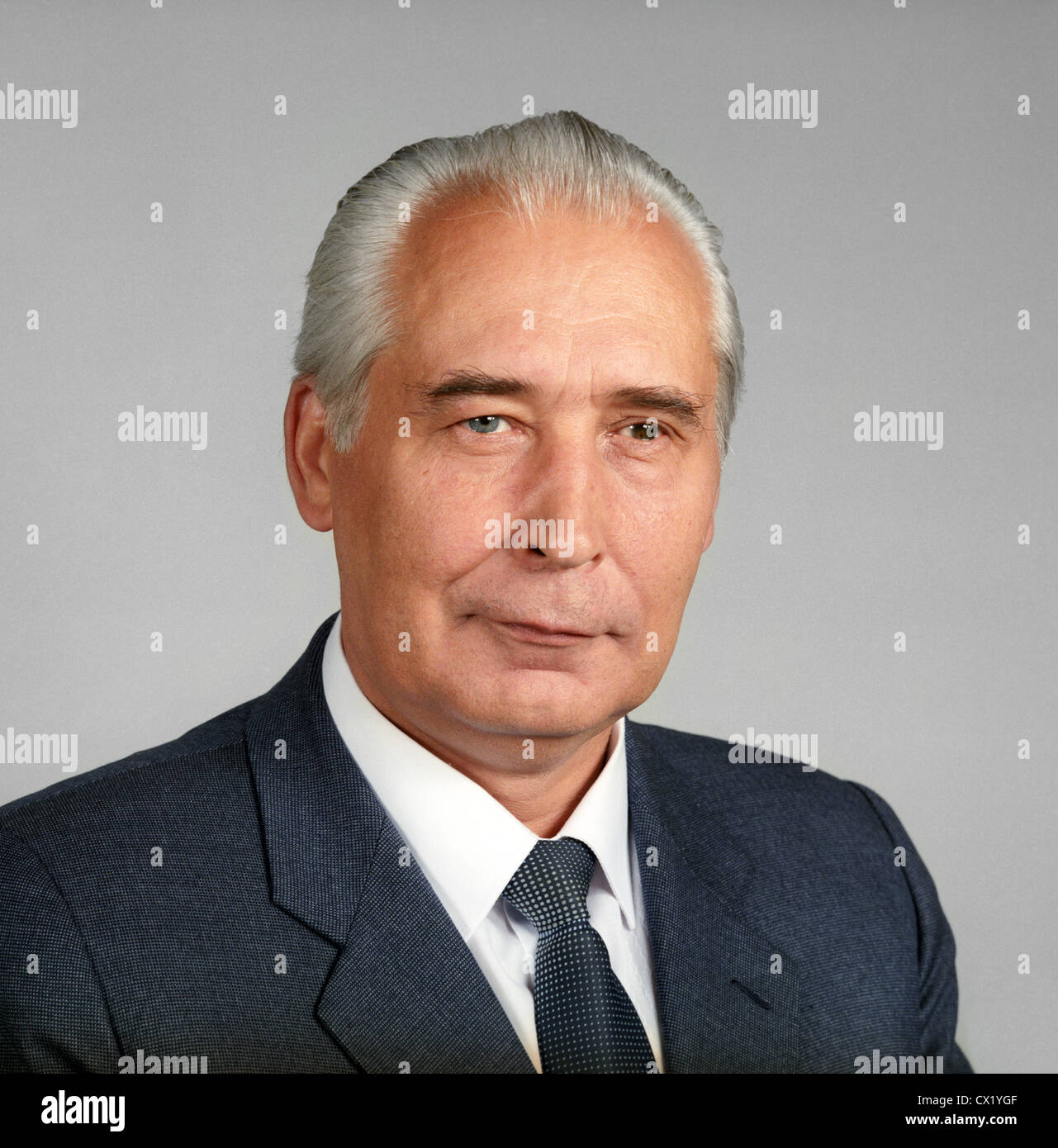 ITAR-TASS: USSR, MOSCOW. Head of Protective Service of the KGB, lieutenant general Yuri Plekhanov. (Photo ITAR-TASS - Stock Image