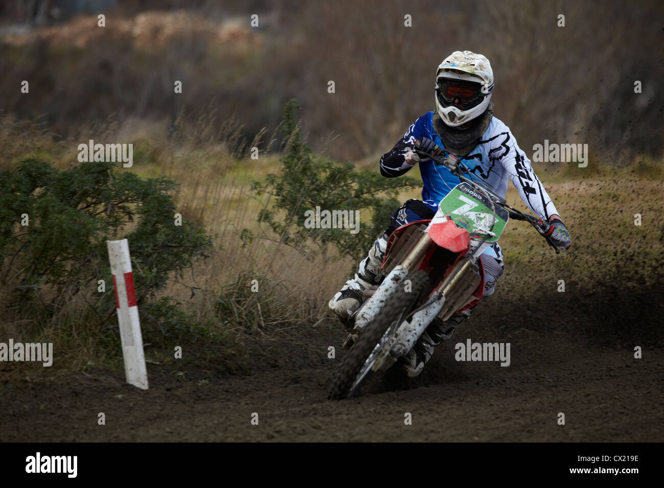Motocross, Balclutha, South Otago, South Island, New Zealand - Stock Image