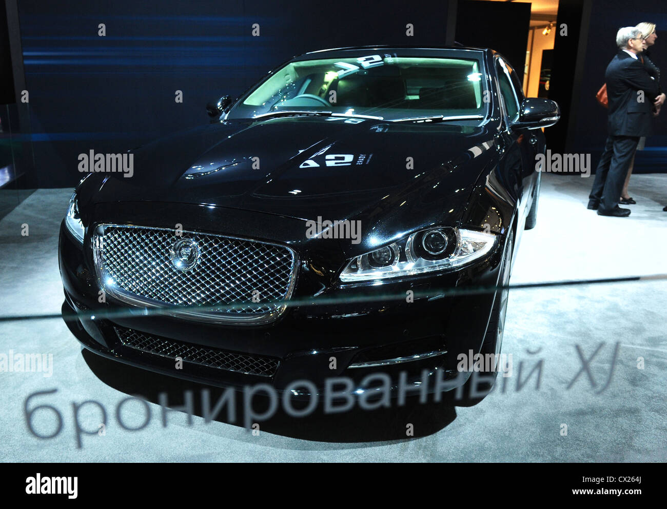 itar-tass: moscow, russia. august 26, 2010. jaguar xj sentinel stock