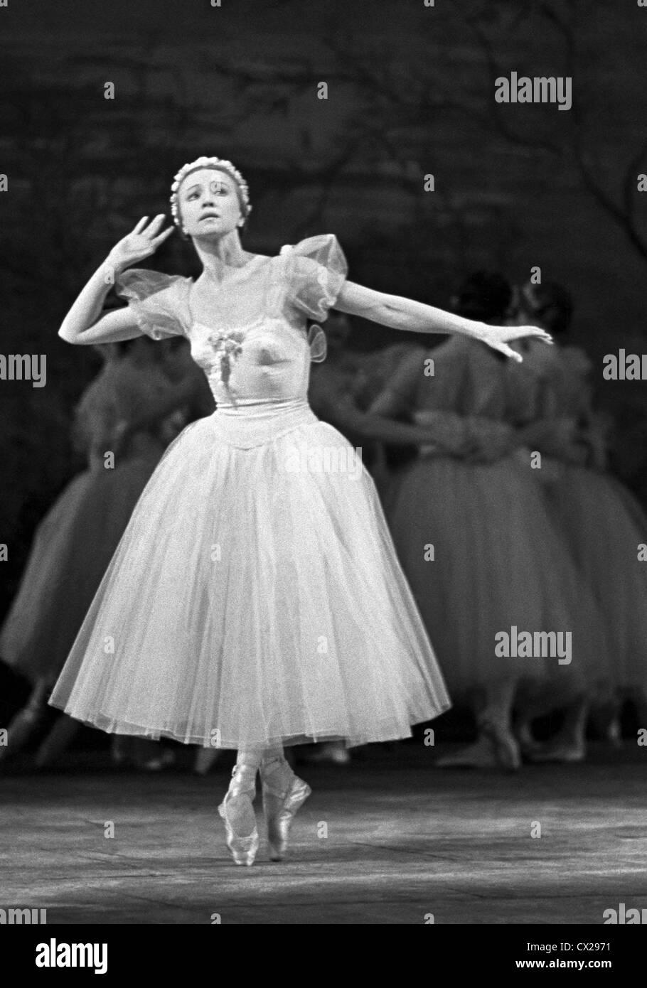 Moscow. USSR. Ballet dancer Galina Ulanova. Photo TASS / Alexander Batanov . . / / Stock Photo