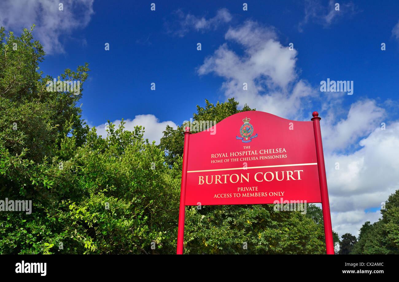 Burton's Court, Royal Hospital Road, Chelsea, London,United Kingdom Stock Photo