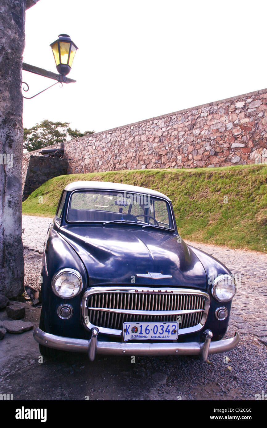 Old time cars in Colonia Uruguay - Stock Image