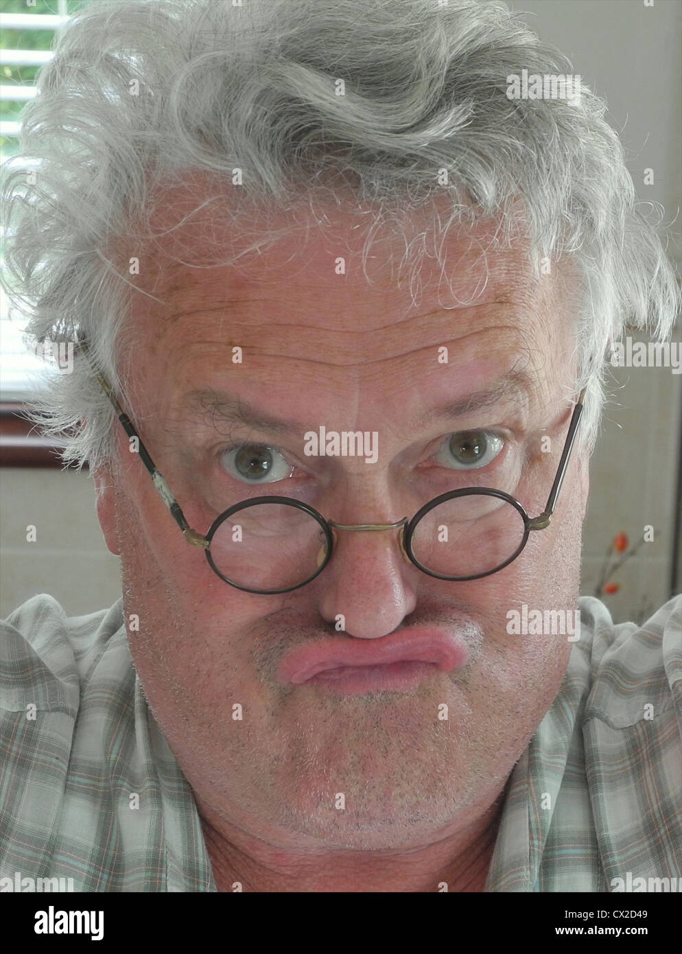 Astonished angry grumpy shocked old man uglyFULLY MODEL RELEASED FOR ANY USE - Stock Image