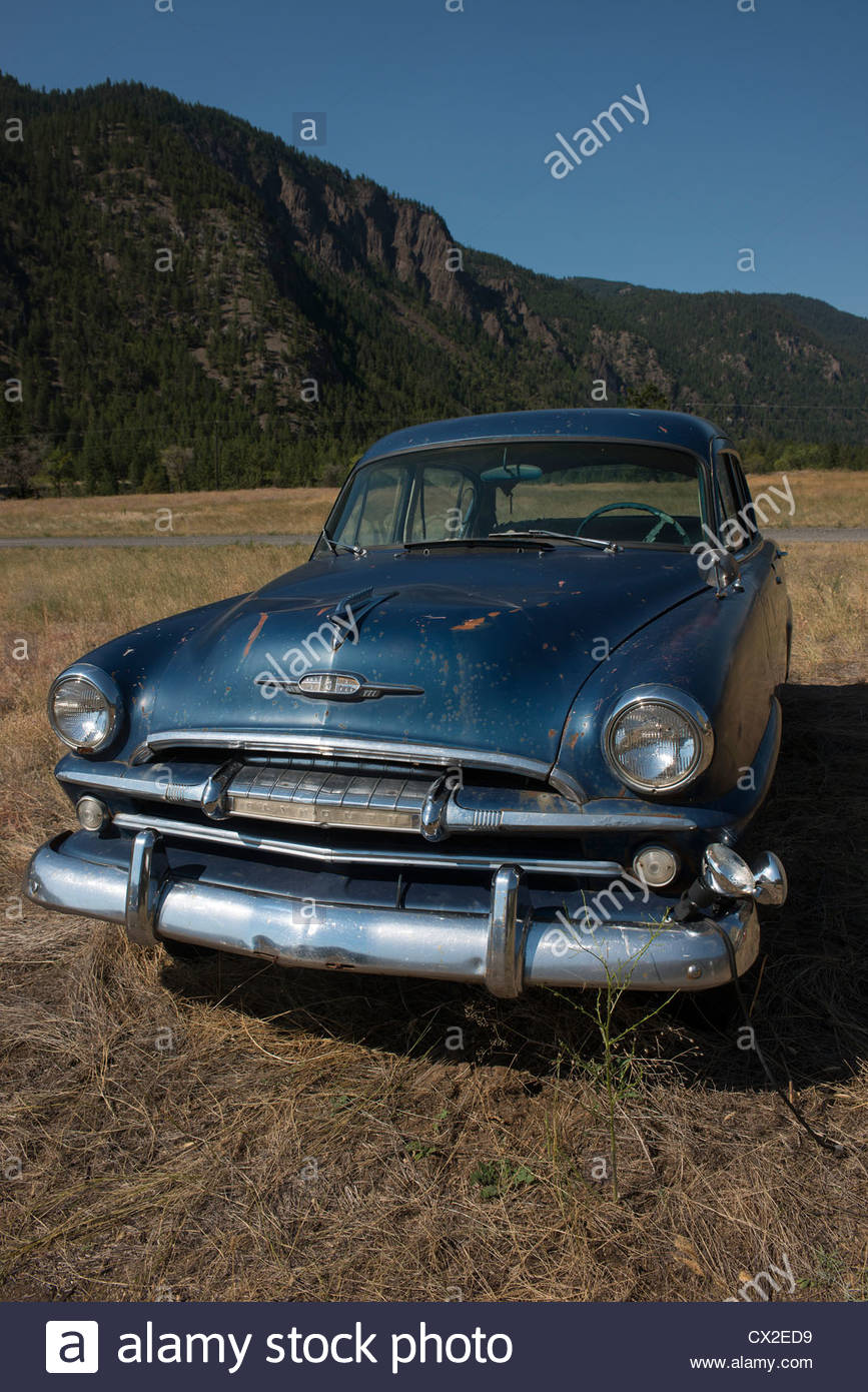 Old Plymouth car in a field Stock Photo: 50457045 - Alamy