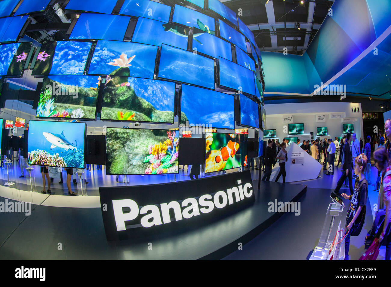 Internationale Funkausstellung Berlin IFA 2012, Panasonic TV, - Stock Image