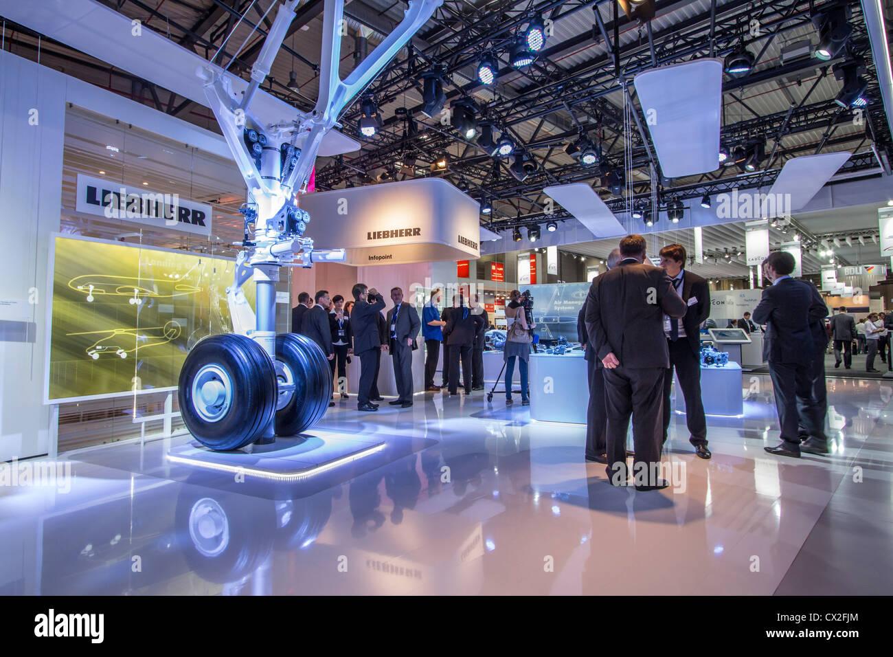 Liebherr at ILA 2012 , International Aerospace Exhibition Berlin , - Stock Image