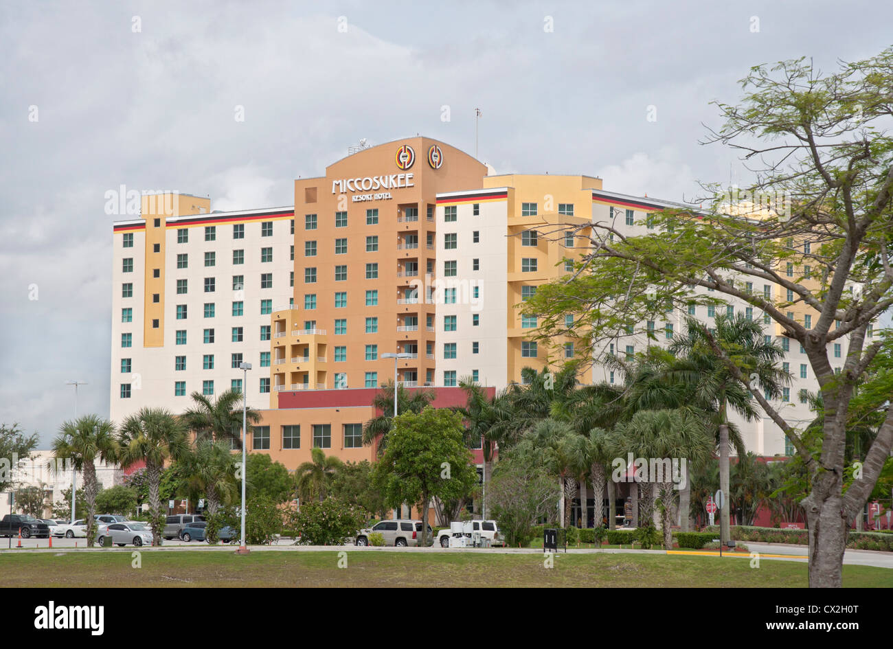 Miccosukee Resort and Gaming facility located just west of Miami in the Everglades along Florida's Tamiami Trail. - Stock Image
