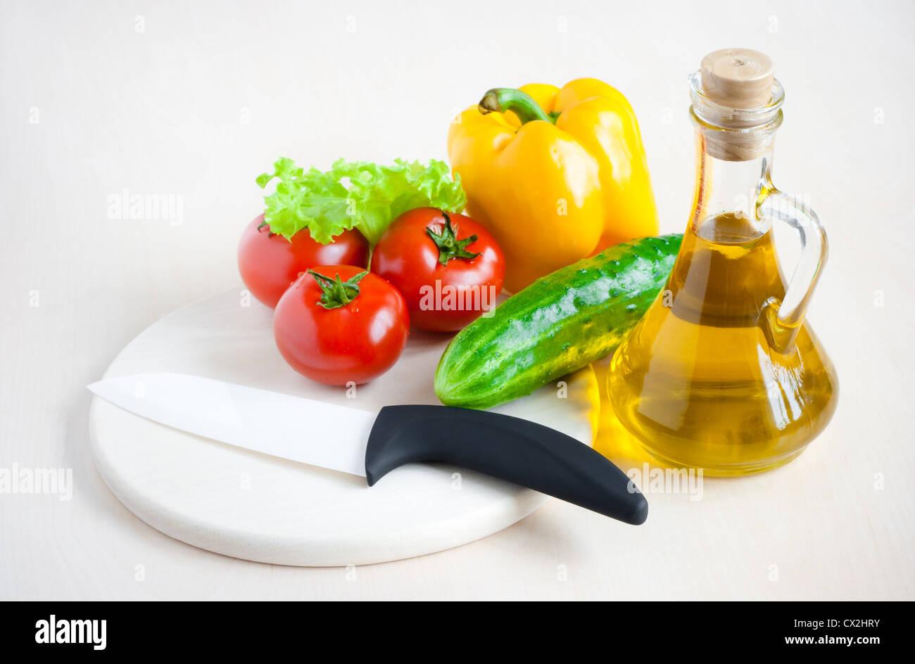 Healthy food still life - Stock Image