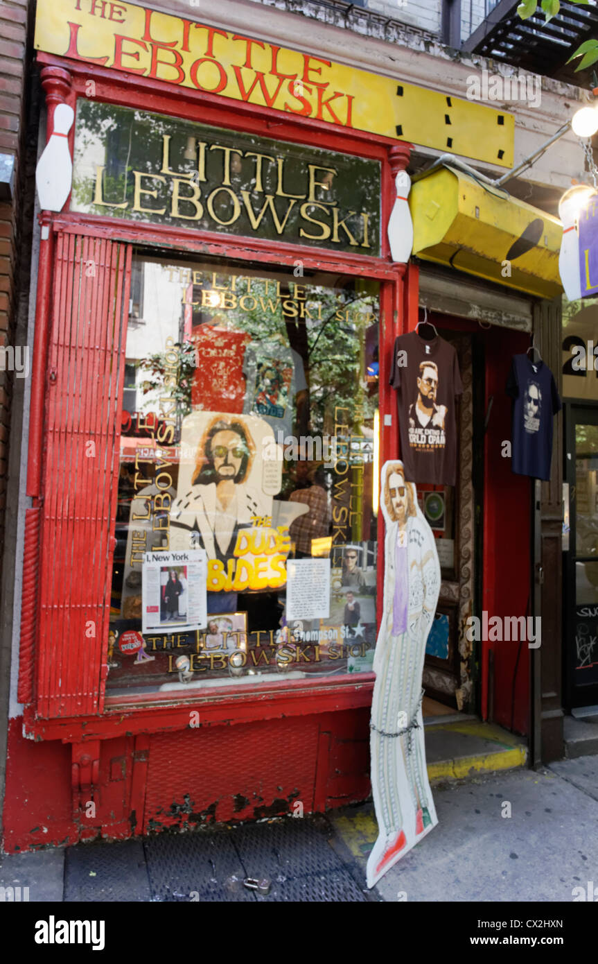 The little Lebowski Shop in Greenwich Village, Manhattan, New York Stock Photo
