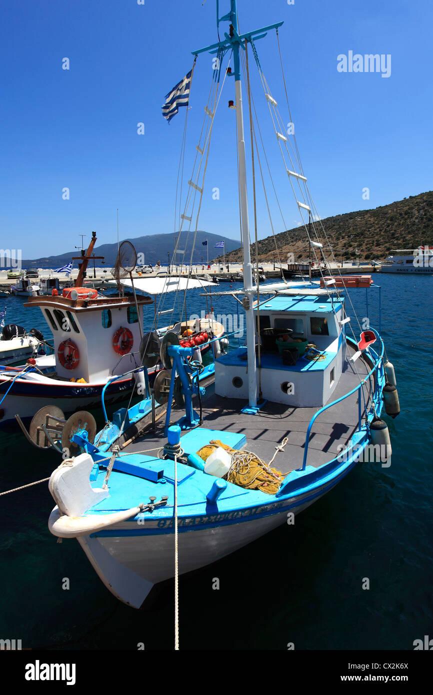 The resort of Agia Efim, Island of Kefalonia, Greece, Europe - Stock Image
