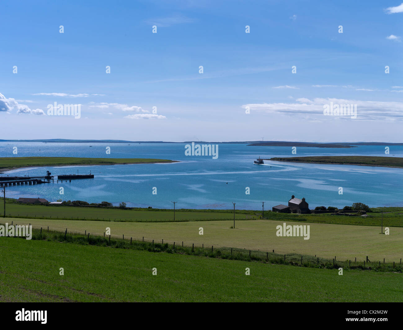 dh houton orkney houton to lyness hoy ferry leaving houton bay scapa