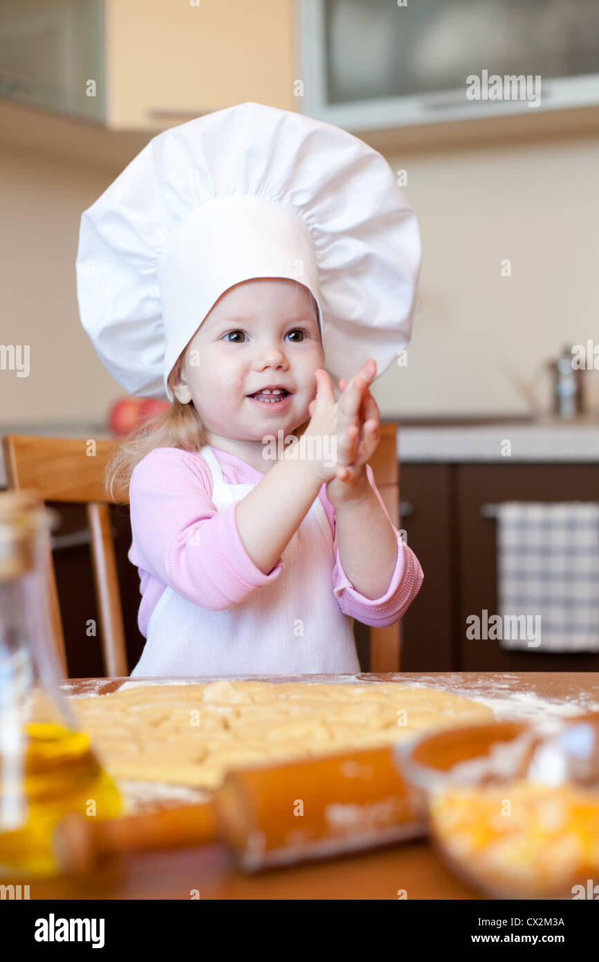 b34a1056bc8 Little Funny Girl Chef Hat Stock Photos   Little Funny Girl Chef Hat ...
