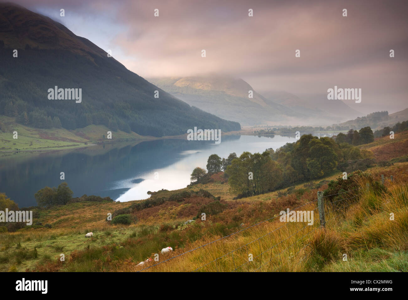 Loch Doine in the Trossachs, Stirling, Scotland. Autumn (October) 2010. - Stock Image