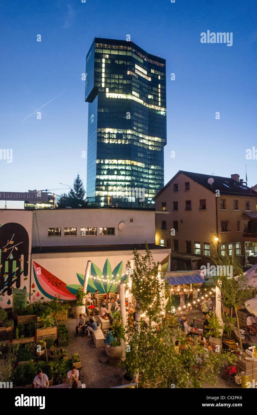 Open Air Bar Frau Gerolds Garten Prime Tower Kreis 5 Zurich