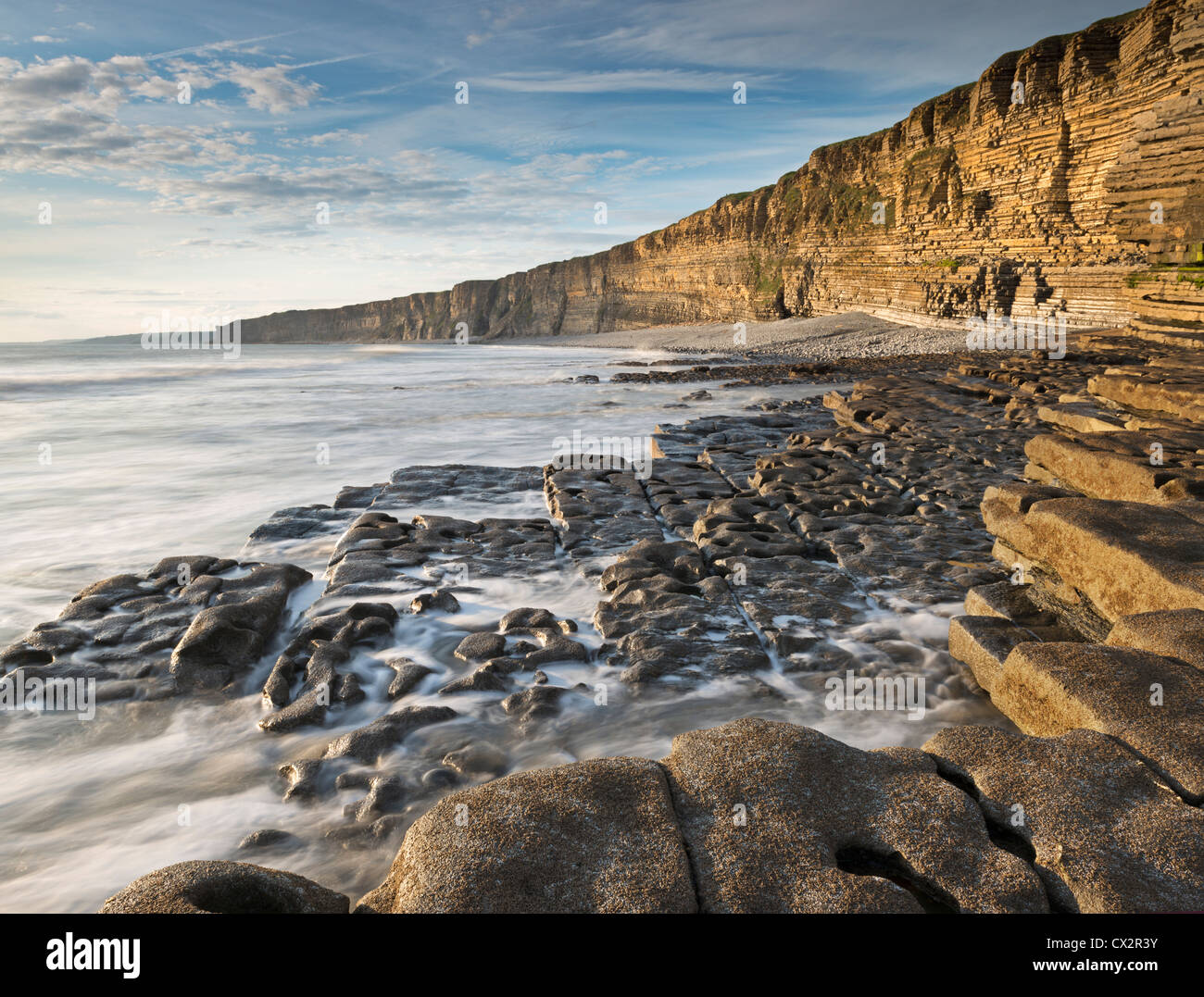 Nash Point on the Glamorgan Heritage Coast, South Wales, UK. Summer (August) 2012. - Stock Image