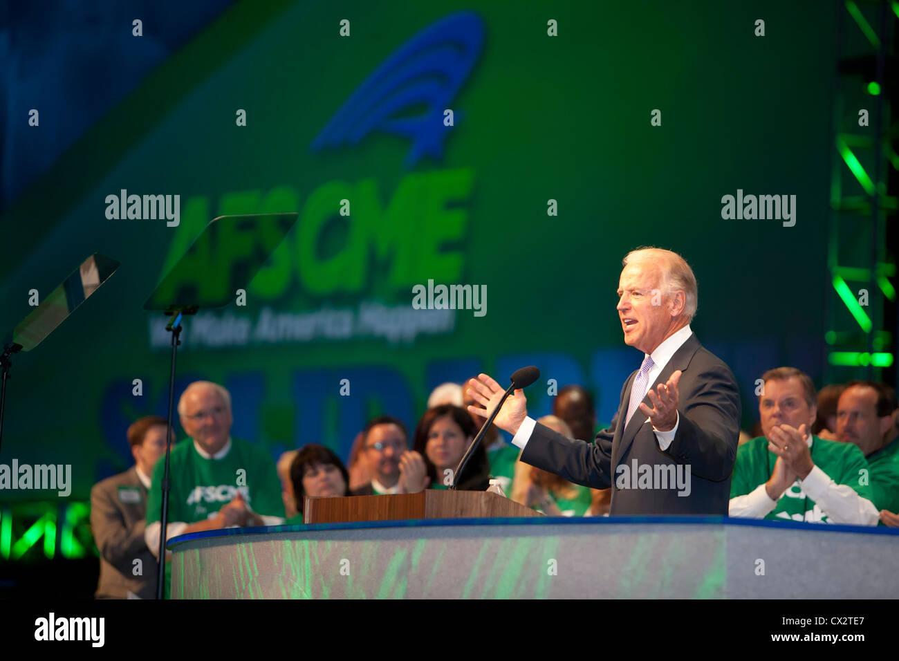 Vice President Joe Biden speaks at AFSCME Convention - Stock Image