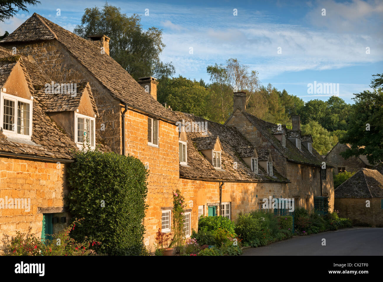 Cottages in the Cotswolds village of Snowshill, Gloucestershire, England. September 2012. - Stock Image