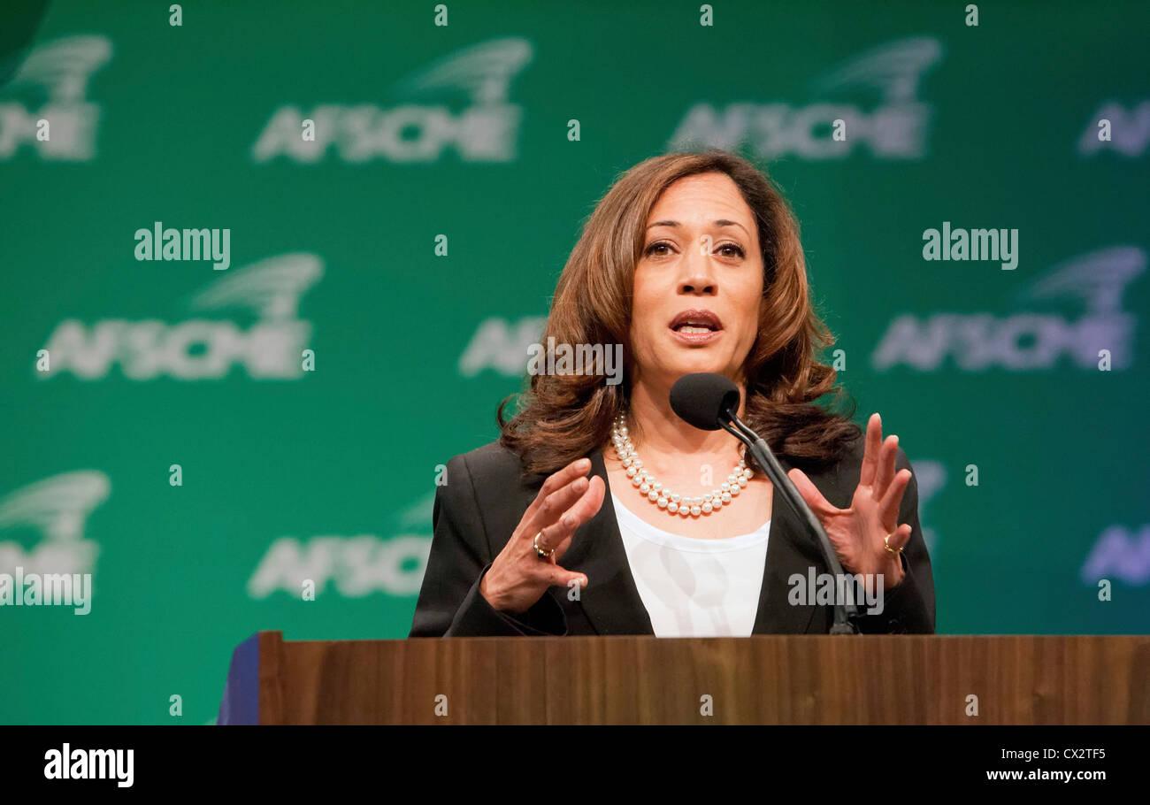 California Attorney General Kamala Harris - Stock Image