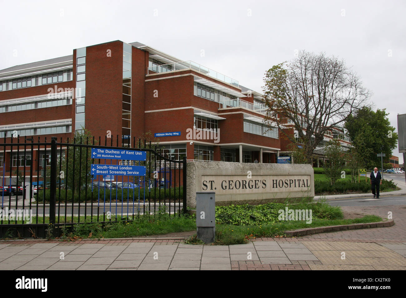 Exterior view of St Georges Hospital Tooting London UK Stock Photo