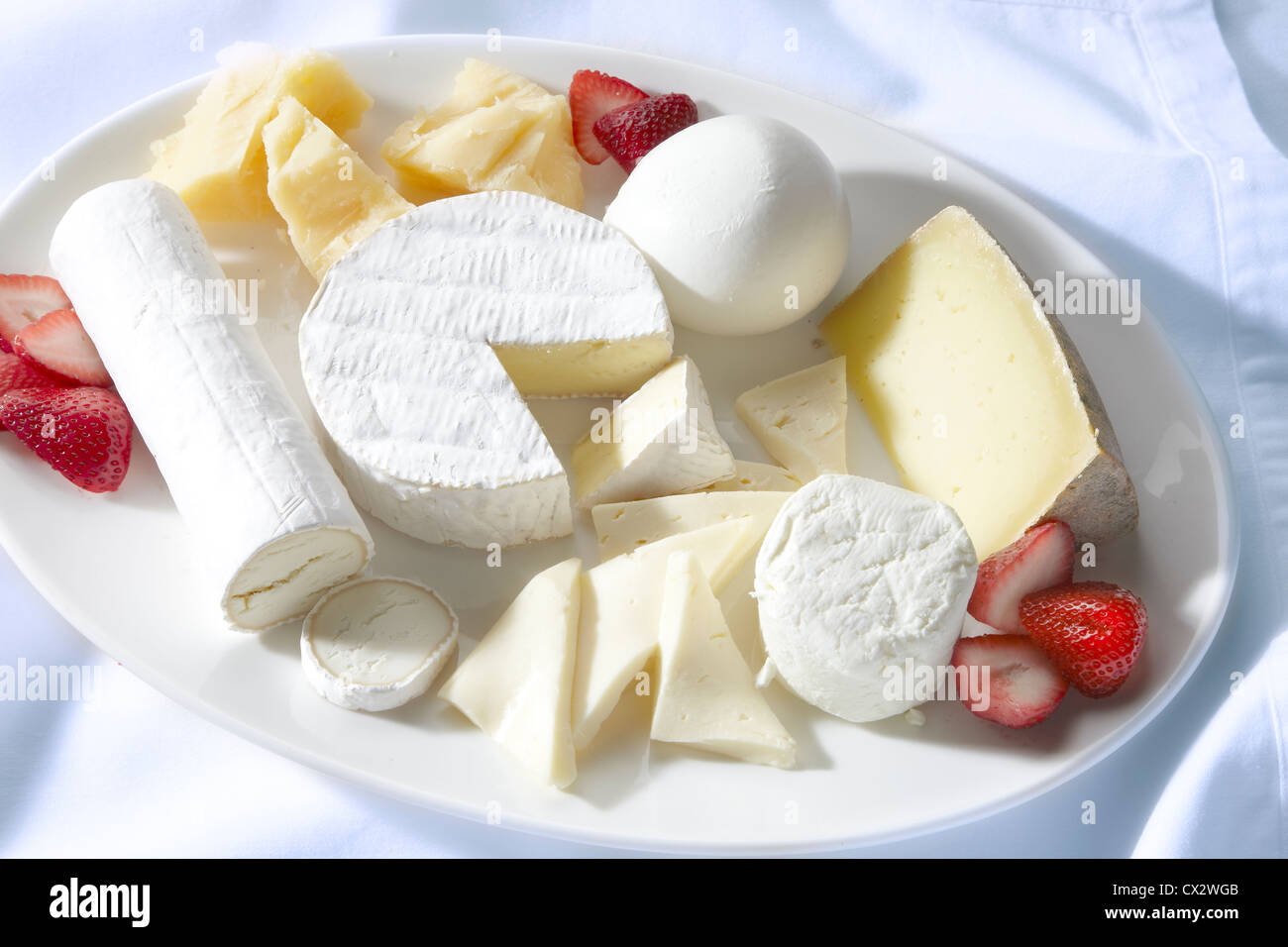 Cheese Platter - Stock Image