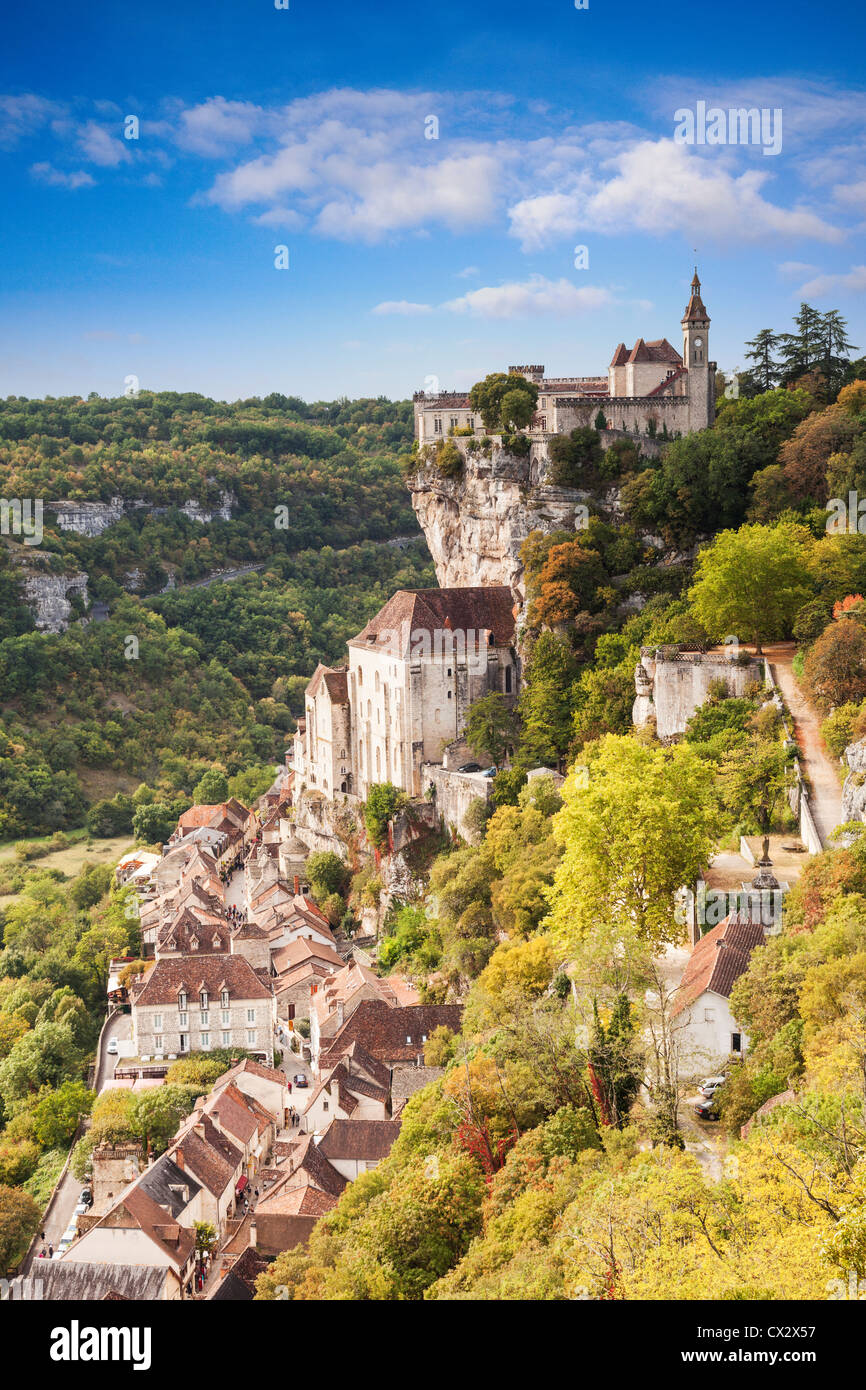 Rocamadour, Midi-Pyrenees, France, in late summer, early autumn. - Stock Image