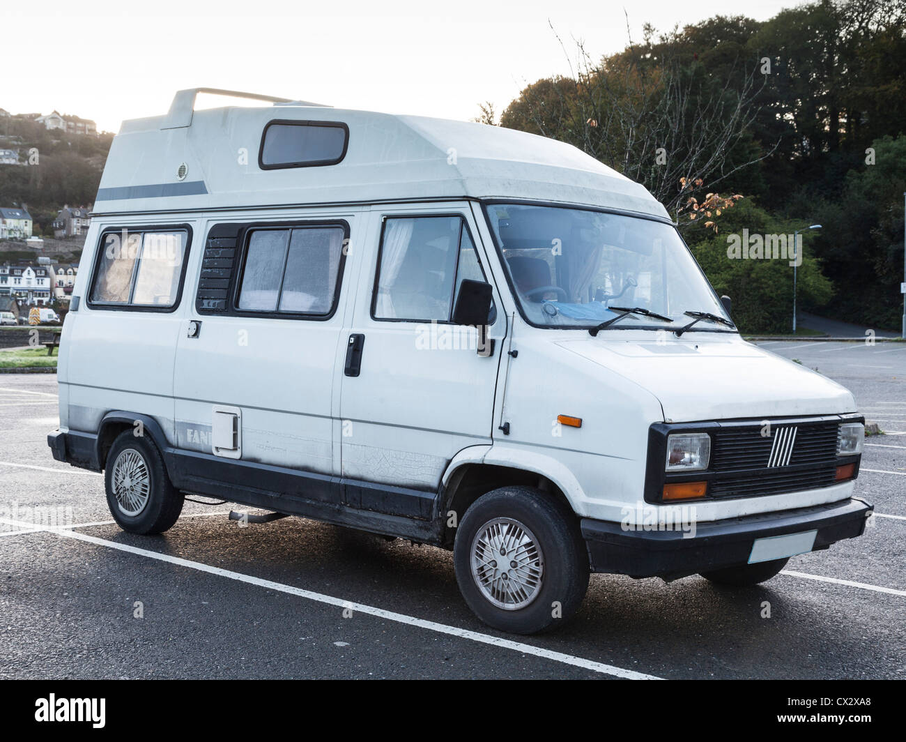 Fiat Ducato Van Holdsworth Fanfare Conversion, parked in a car park. - Stock Image