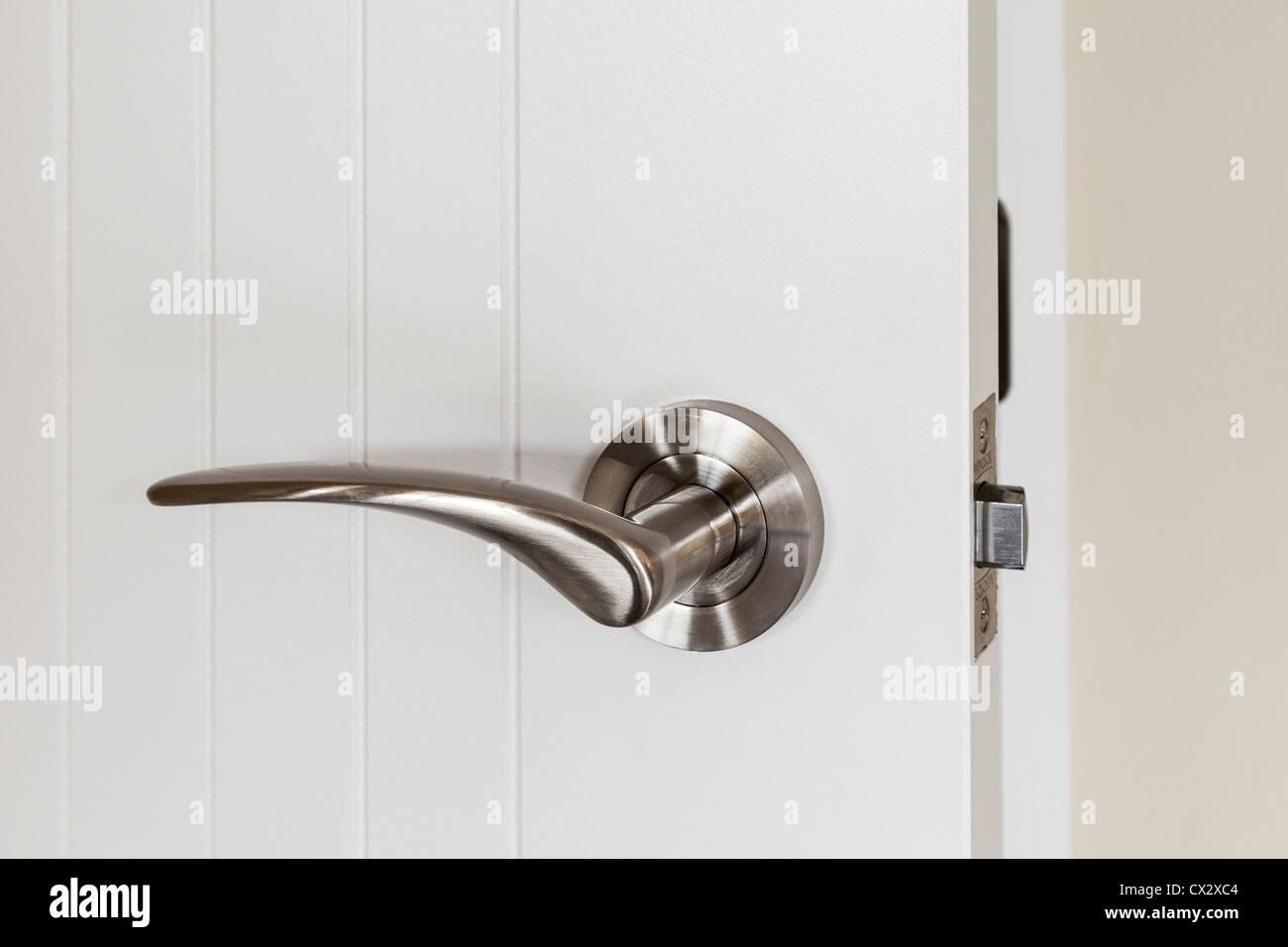 Internal door handle or lever set. - Stock Image