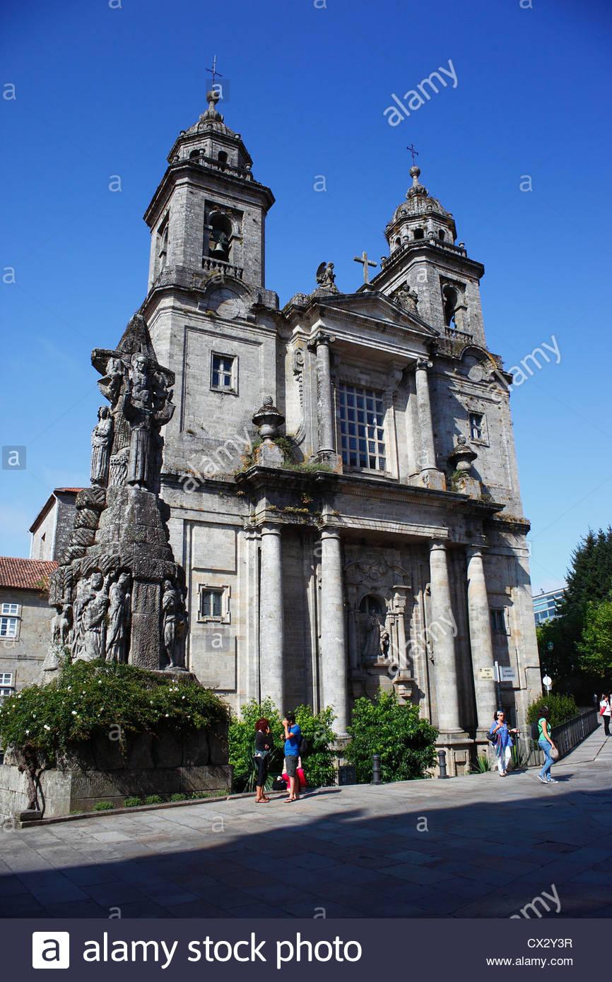 Church in Santiago de Compostela, Galicia, Spain - Stock Image